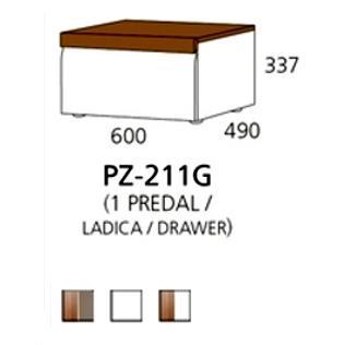 PZ-211G niski element - 1 ladica PRIZMA