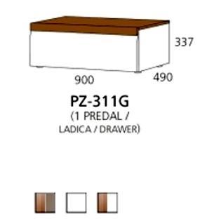 PZ-311G niski element - 1 ladica PRIZMA