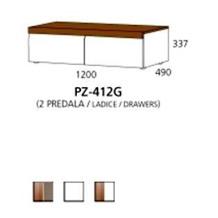 PZ-412G niski element - 2 ladice PRIZMA