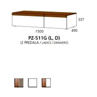 PZ-511G (L/D) niski element - 2 ladice PRIZMA