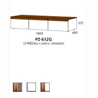PZ-612G niski element - 3 ladice PRIZMA