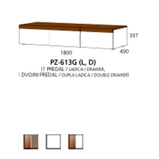 PZ-613G (L/D) niski element - 1 ladica,1 dupla ladica PRIZMA