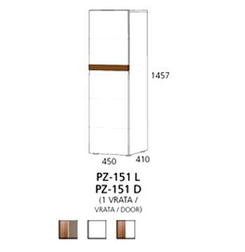PZ-151 (L/D) srednji element - 1 vrata PRIZMA