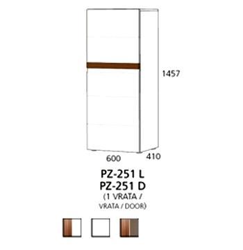 PZ-251 (L/D) srednji element - 1 vrata PRIZMA
