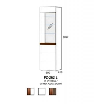 PZ-262 (L/D) visoki element - 1 vitrina PRIZMA