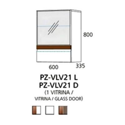 PZ-VLV21 (L/D) viseći element - 1 vitrina PRIZMA