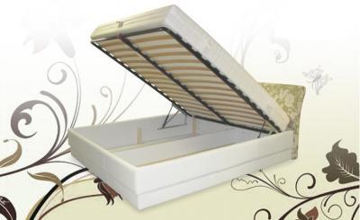 TIN U1S1 tapecirani krevet sa sandukom i metalnom podiznom podnicom